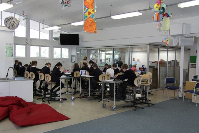 The solution may not be a new building. Well-designed furniture gives learning spaces versatility.