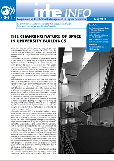 h. OECD IMHE: Changing Nature of Space in University Buildings